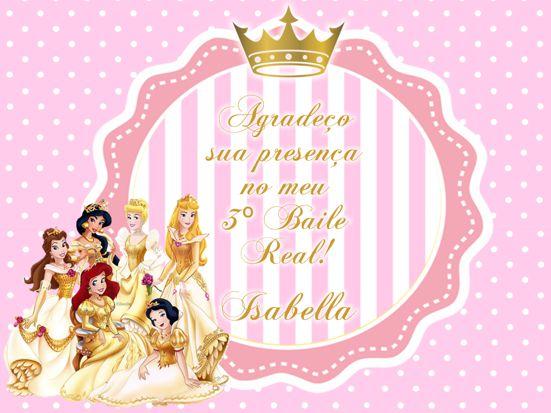 Convite Princesas Disney Provencal Fotografia Presentes